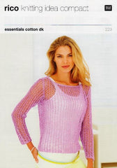 Rico Essentials Cotton DK Pattern 223 - Lacy Top