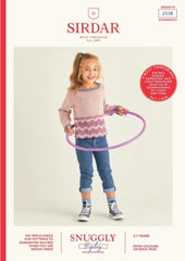 Sirdar Snuggly Replay DK Pattern 2538 - Beautiful Colourful Sweater