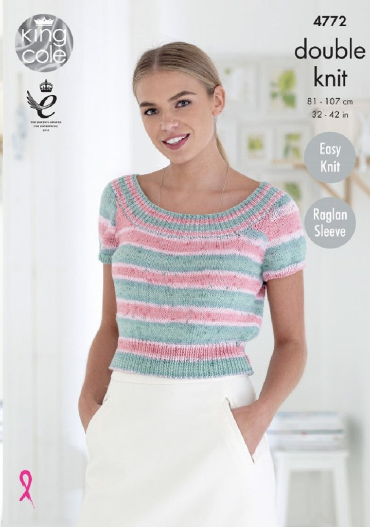 King Cole Cottonsoft Crush DK Pattern 4772 - Ladies' Tops