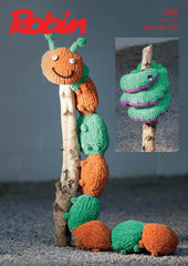 Robin Firecracker Super Chunky Pattern 3001 - Knitted Caterpillar & Snake