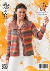 King Cole Riot DK Pattern 3950 -  Cardigan & Sweater