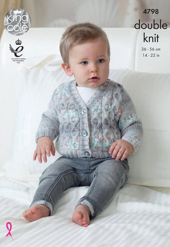 King Cole Drifter DK for Baby Pattern 4798 - Cardigans & Waistcoats