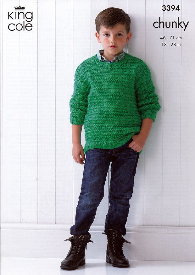 King Cole Comfort Chunky Pattern 3394 - Sweater & Tank Top