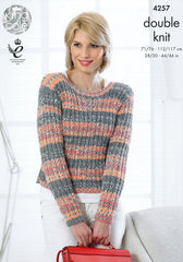 King Cole Drifter DK Pattern 4257 - Cardigan & Sweater