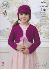 King Cole Galaxy DK Pattern 4426 - Crochet Boleros