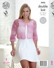 King Cole Vogue DK Pattern 4456 - Ladies Cardigans