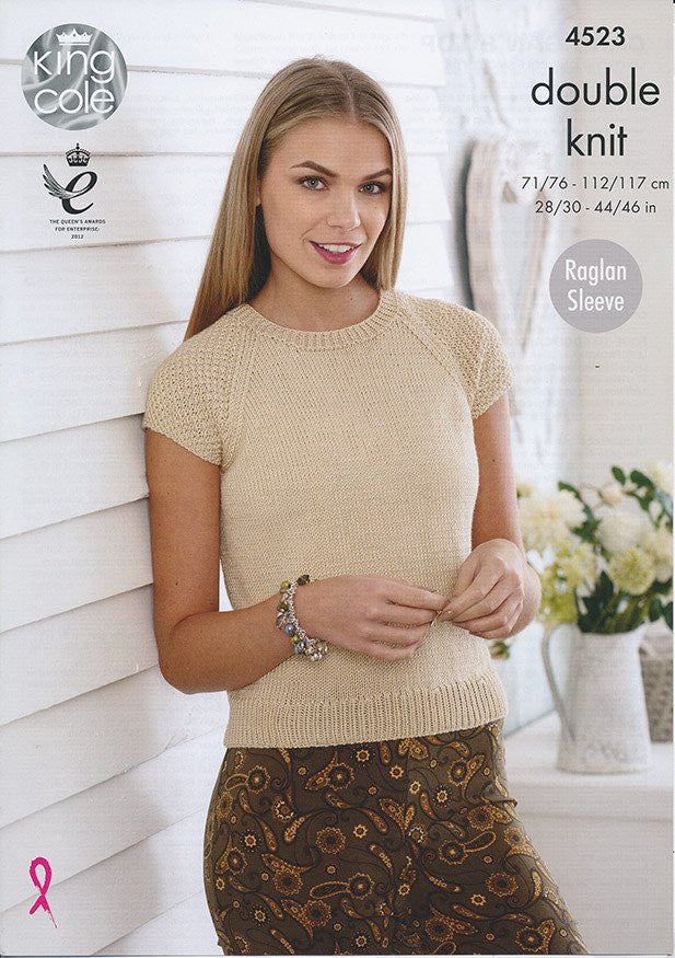 King Cole Smooth DK Pattern 4523 - Cardigan & Top