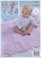 King Cole Yummy Pattern 4533 - Blankets