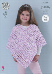 King Cole Yummy Pattern 4537 - Ponchos