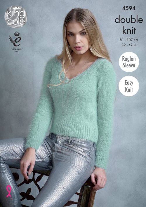 King Cole Embrace DK Pattern 4594 - Sweaters