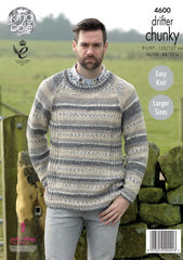 King Cole Drifter Chunky Pattern 4600 - Men's Sweaters