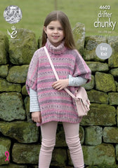 King Cole Drifter Chunky Pattern 4602 - Girls Ponchos