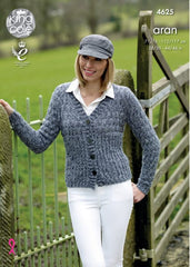 King Cole Fashion Aran Combo Pattern 4625 - Cardigan & Sweater