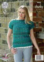 King Cole Corona Chunky Pattern 4662 - Sweater & Top