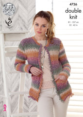 King Cole Shine DK Pattern 4726  Jacket & Sweater