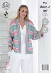 King Cole Cottonsoft Crush DK Pattern 4773 - Ladies' Cardigan