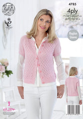 King Cole Giza Cotton & Sorbet 4 Ply Pattern 4785 - Cardigans