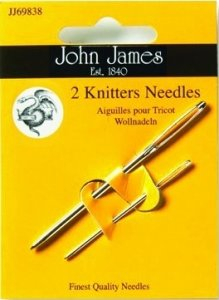 Knitters Needles for sewing up your garments - John James