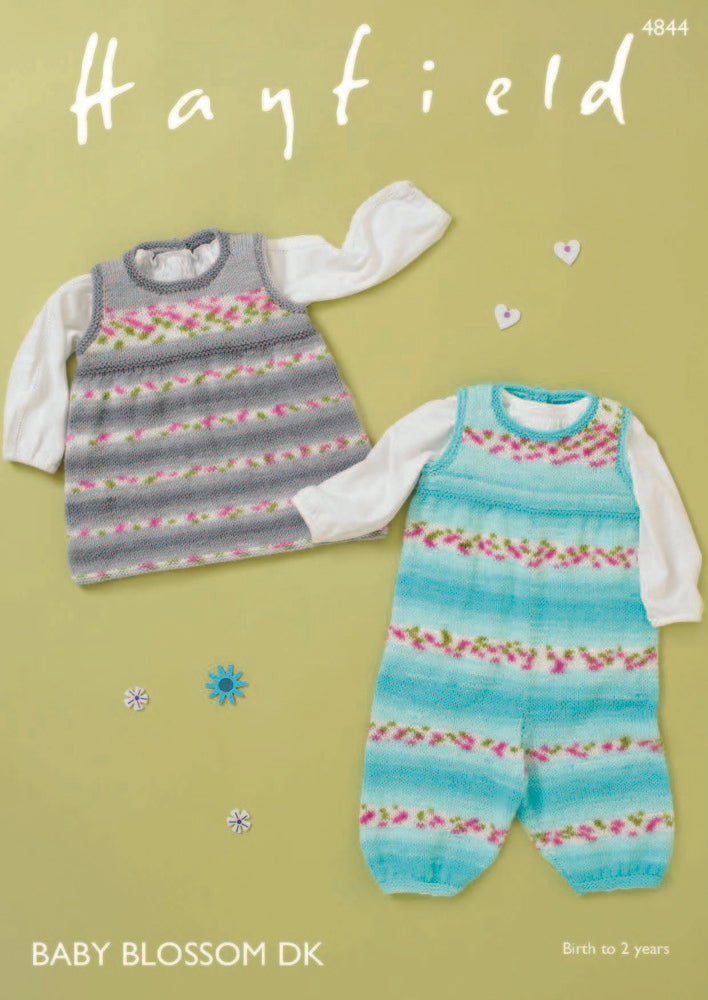 Hayfield Baby Blossom DK Pattern 4844 - Dungarees & Pinafore