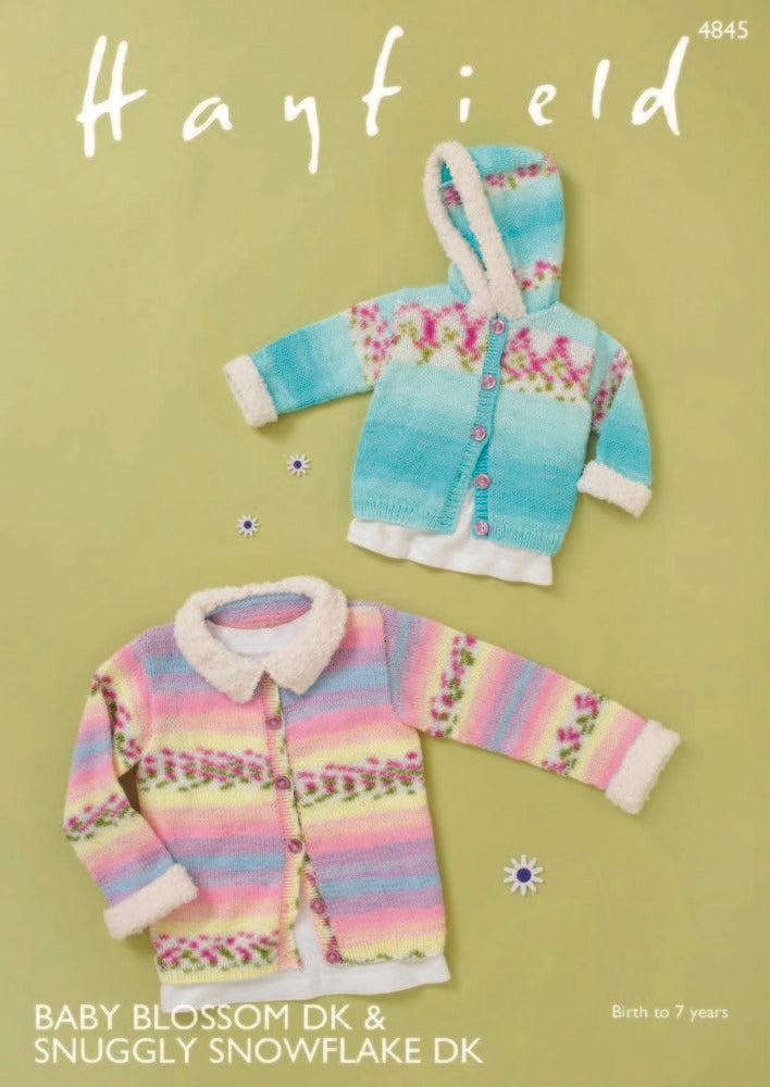 Hayfield Baby Blossom DK & Snuggly Snowflake DK Pattern 4845 - Jackets