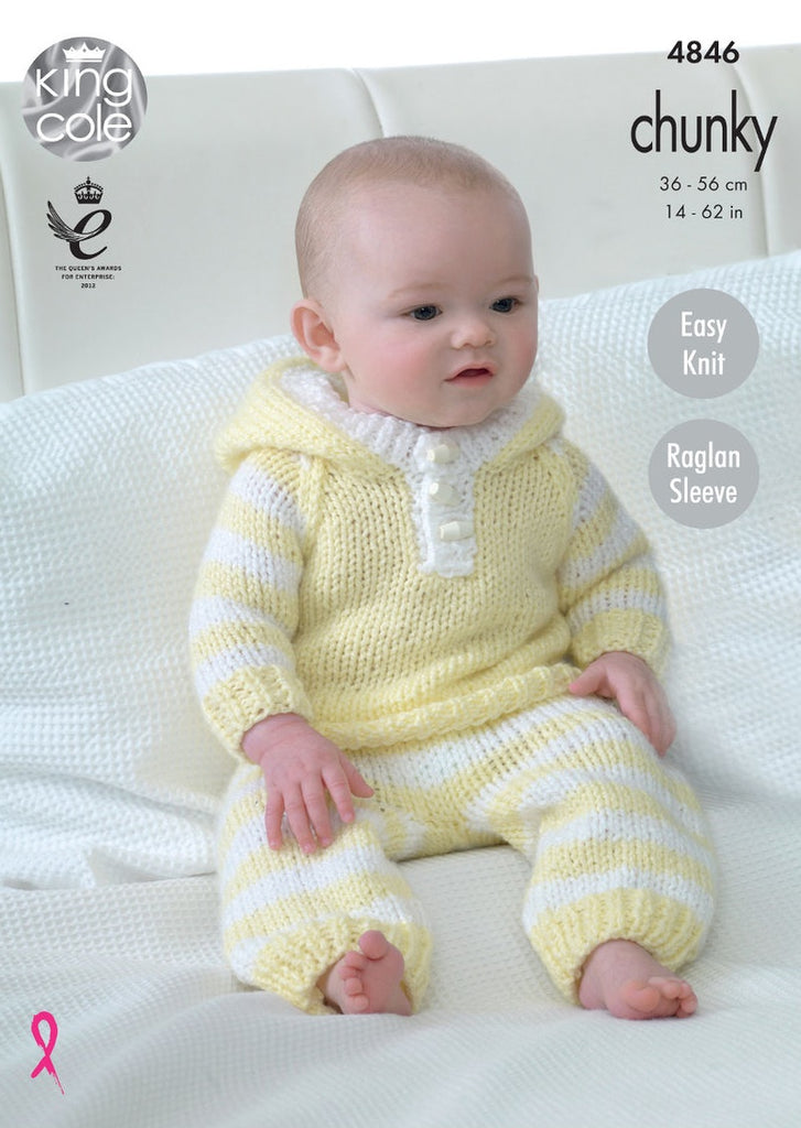 King Cole Big Value Baby Chunky Pattern 4846 - All in One, Hoody, Pants & Hat