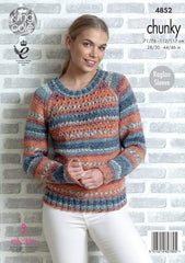 King Cole Drifter Chunky Pattern 4852 - Sweater & Cardigan