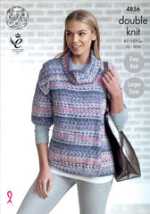 King Cole Drifter DK Pattern 4856 - Ladies' Cardigans