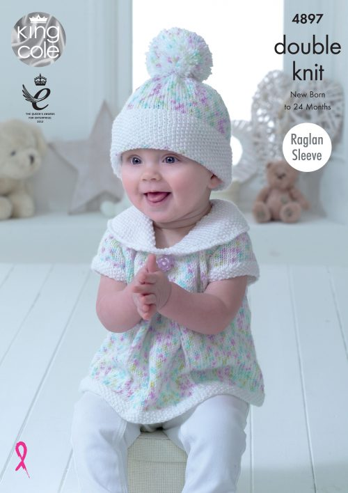 King Cole Cherish Dash & Cherished DK Pattern 4897 - Baby Set