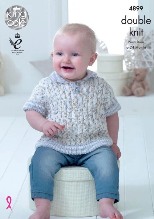not the finished garments KINGCOLE 4900 BABY DK KNITTING PATTERN  14-22IN