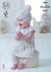 King Cole Cherish Dash & Cherished DK Pattern 4900 - Baby Set