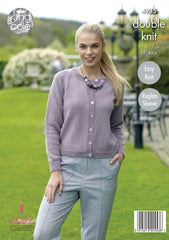 King Cole Luxury Merino DK Pattern 4935 - Cardigan & Sweater