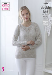 King Cole Calypso DK Pattern 5044  Sweater & Top