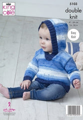 King Cole Cottonsoft Baby Crush DK & Cottonsoft Pattern 5103 - Sweaters