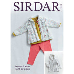Sirdar Supersoft Aran Rainbow Drops