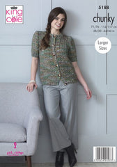 King Cole Shadow Chunky Pattern 5188 - Cardigans