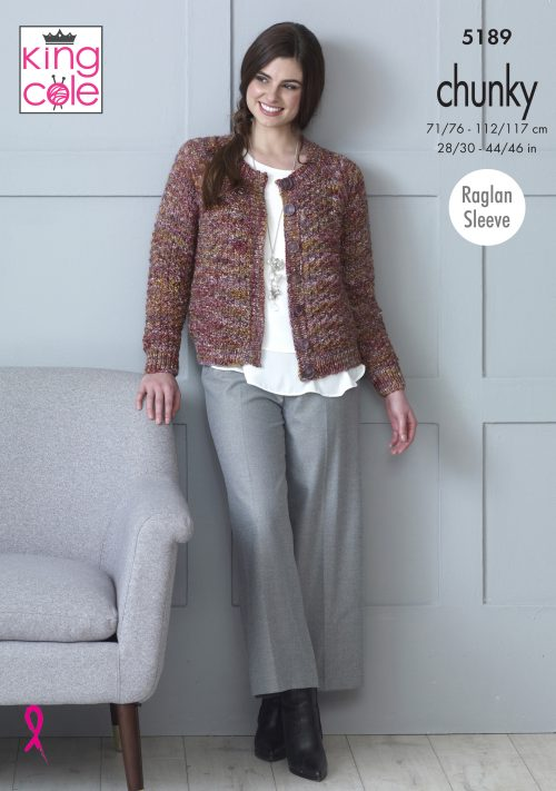 King Cole Shadow Chunky Pattern 5189 - Cardigans