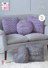 King Cole Shadow Chunky Pattern 5193  Cushions