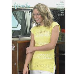 Wendy Supreme Luxury Cotton DK Pattern 5771 - Crochet Top