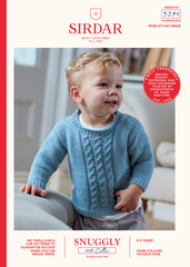 Sirdar Snuggly 100% Cotton Pattern 5270 - Cabled Sweater & Tank -