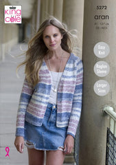 King Cole Drifter Aran Pattern 5272 - Ladies Cardigans