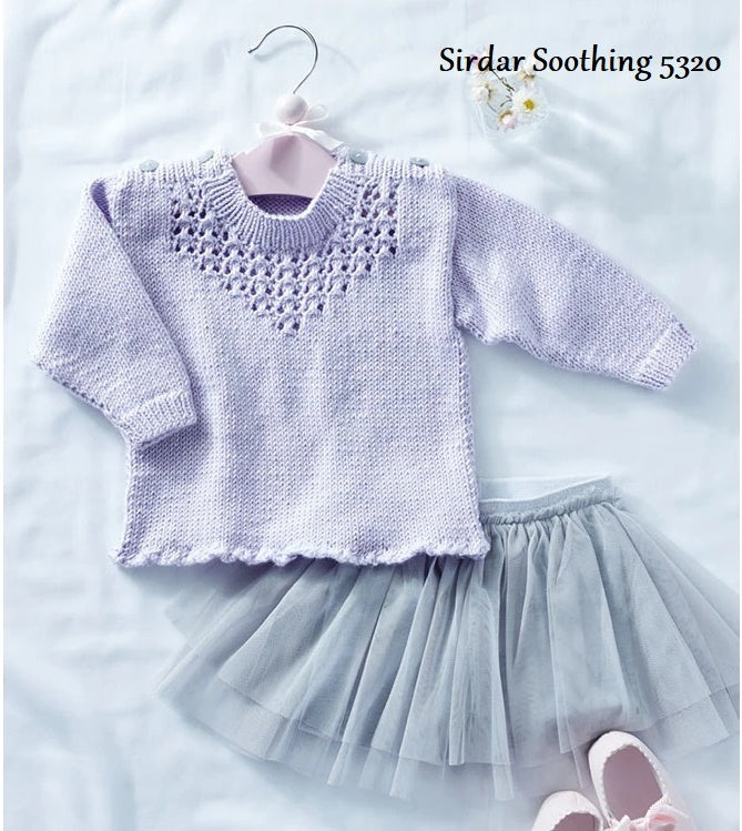 Sirdar Snuggly Soothing DK Pattern 5320 - Girl's Sweater