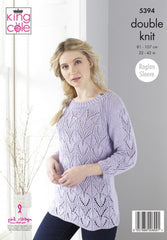 King Cole Finesse Cotton Silk DK Pattern 5394 - Cardigan & Sweater