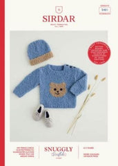 Sirdar Snuggly Snowflake Chunky Pattern 5401 - Teddy Bear Sweater & Hat