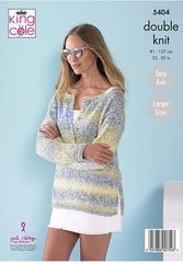 King Cole Caribbean Calypso DK Pattern 5404  - Ladies Tops