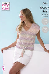King Cole Caribbean Calypso DK Pattern 5405 - Ladies Tops