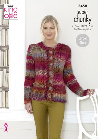 King Cole Explorer Super Chunky Pattern  - 5458 Sweater & Cardigan
