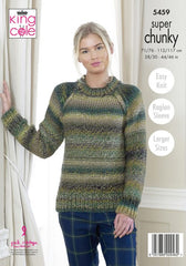 King Cole Explorer Super Chunky Pattern  5459 - Cardigan & Sweater