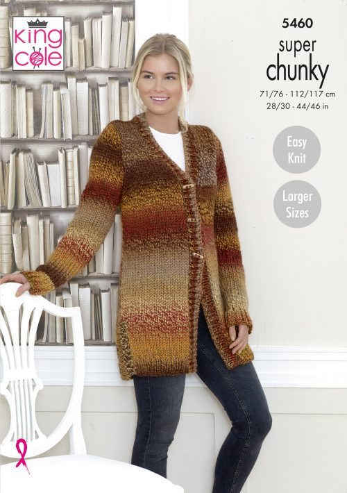 King Cole Explorer Super Chunky Pattern  5460 - Cardigan & Waistcoat