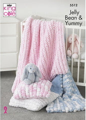 King Cole Jelly Bean Pattern 5512 - Cot Blanket, Pram Blanket & Cushion
