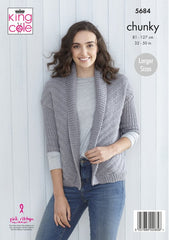 King Cole Subtle Drifter Chunky Pattern 5684 - Ladies Cardigans